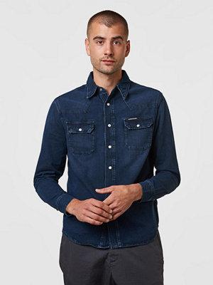 Calvin Klein Jeans Arcive Western Shirt 911 Cape Blue Black