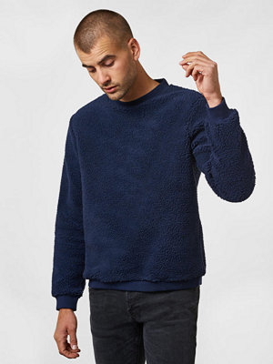 Tröjor & cardigans - Studio Total Jeffery Pile Sweater Dk Navy
