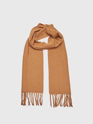Halsdukar & scarves - Wacay Ben Wool Scarf Camel Beige Melange