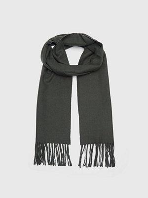 Halsdukar & scarves - Wacay Ben Wool Scarf Dark Green Melange