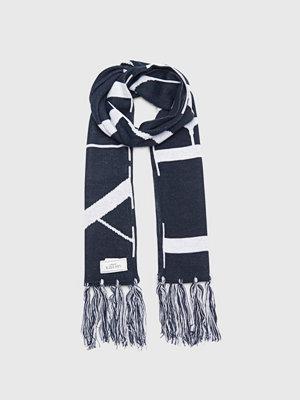 Halsdukar & scarves - Les Deux Les Deux Fan Scarf Navy/White