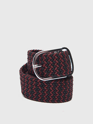 Bälten & skärp - Saddler Braided Belt 78687 Black/Bordeaux