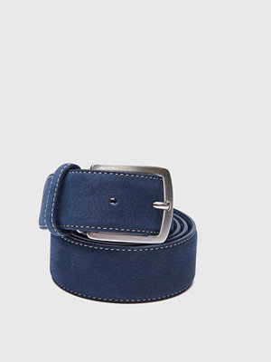 Bälten & skärp - Saddler Nubuck Belt 78695 Navy