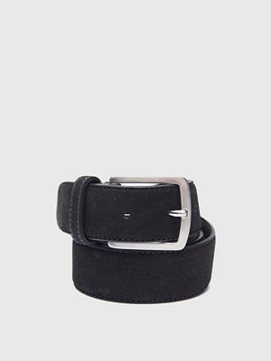 Bälten & skärp - Saddler Nubuck Belt 78695 Black