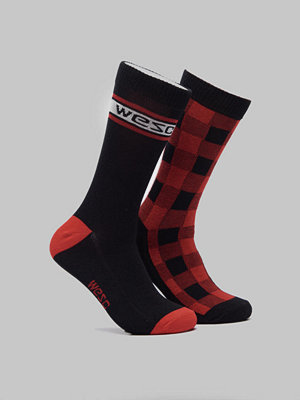 WESC Fashion Sock 2 Pack Flame Scarlet