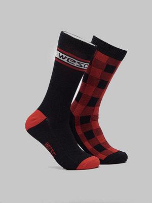 Strumpor - WESC Fashion Sock 2 Pack Flame Scarlet