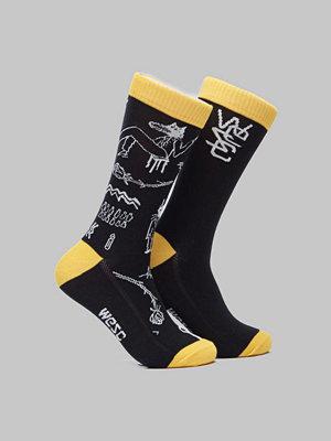 Strumpor - WESC Fashion Sock 2 Pack Ultra Yellow