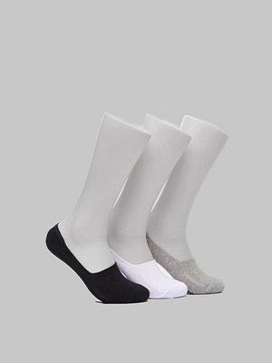 Strumpor - WESC No Show Basic 3 Pack Grey Melange