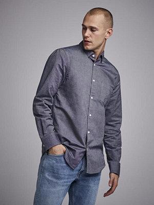 Skjortor - Filippa K Tim Oxford Shirt Dark Navy Melange