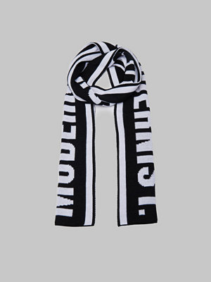 Halsdukar & scarves - Modernist Big Knitted Scarf Black/White