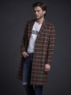 Modernist Wool Coat Plaid