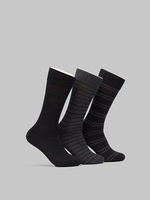 Strumpor - Gant 3-pack Mixed Socks Charcoal Melange