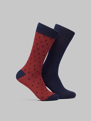 Strumpor - Gant 2-pack Solid and Dot Socks Winter Wine