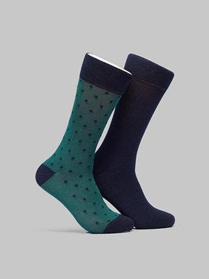 Strumpor - Gant 2-pack Solid and Dot Socks June Bug Green
