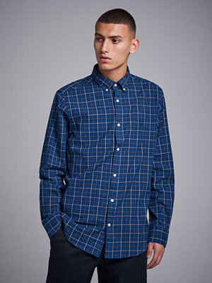 Gant Campus Oxford Check Reg Bd Indigo Blue