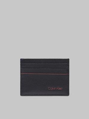 Plånböcker - Calvin Klein Double Edge Cardholder 910 Black/Navy/Rose