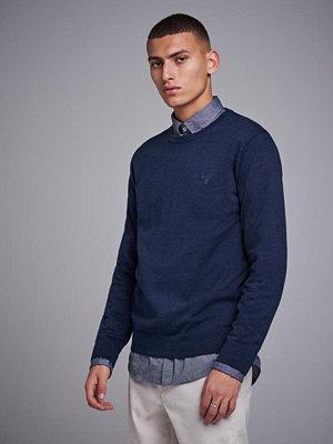 Tröjor & cardigans - Gant Light Weight Cotton Crew Dark Denim Blue Melange