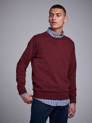 Gant Light Weight Cotton Crew Burgundy Melange