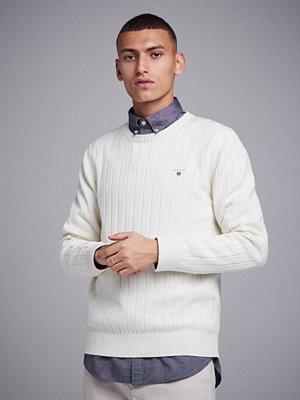 Tröjor & cardigans - Gant Cotton Rib Crew Cream