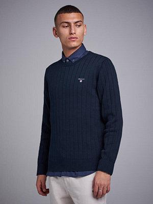Tröjor & cardigans - Gant Cotton Rib Crew Evening Blue