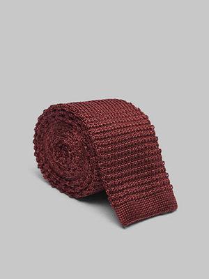 Slipsar - Amanda Christensen Knitted Tie 6 cm Wine Red