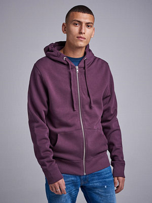 Street & luvtröjor - Ljung by Marcus Larsson Zip Hood Sweater Dark Plum
