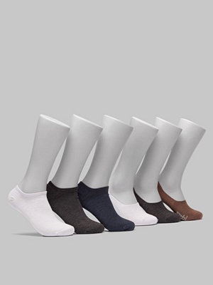 Topeco 6-pack Bamboo Sneaker & No-Show Socks Black/Navy/White