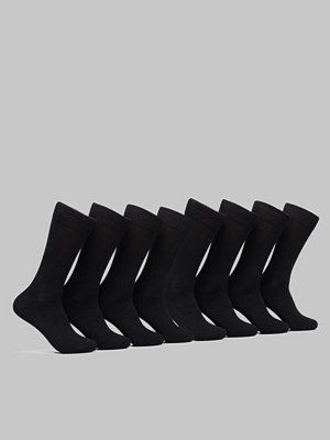 Topeco 8-pack Cotton Socks Black