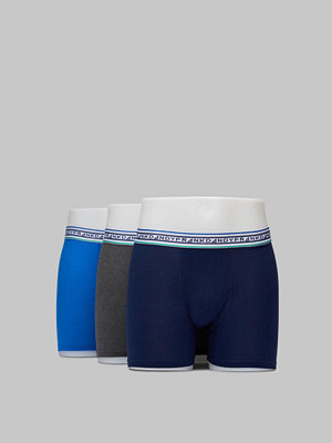 Frank Dandy 3-pack Solid Boxer w. Stripe Navy