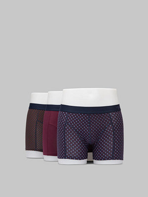 Topeco 3-pack Cotton Boxer Burgundy/Green