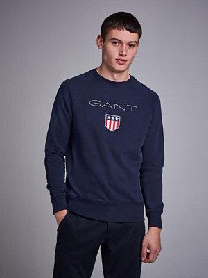 Tröjor & cardigans - Gant Gant Shield C-Neck Sweat Evening Blue