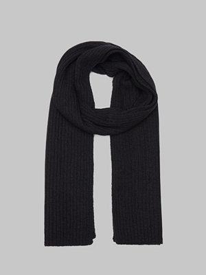 Halsdukar & scarves - Gant Wool Knit Scarf Black