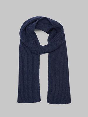 Halsdukar & scarves - Gant Wool Knit Scarf Marine