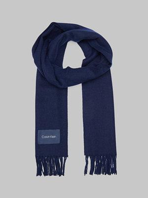 Calvin Klein Classic Wool Scarf 448 Dark Navy