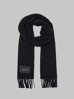 Calvin Klein Classic Wool Scarf 001 Black