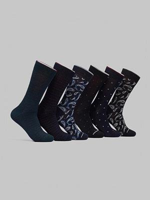 Strumpor - Topeco 6-pack Bamboo Pattern Socks Multi