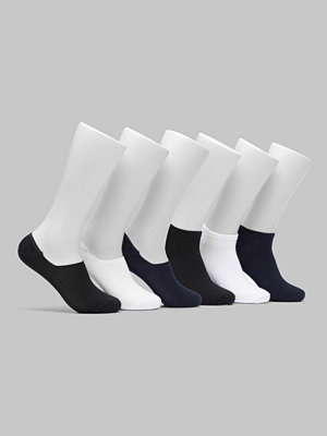 Topeco 6-pack Sneaker / No-show Socks Black/Navy/White