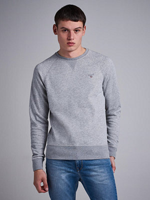 Tröjor & cardigans - Gant Gant Original C-Neck Sweat Grey Melange