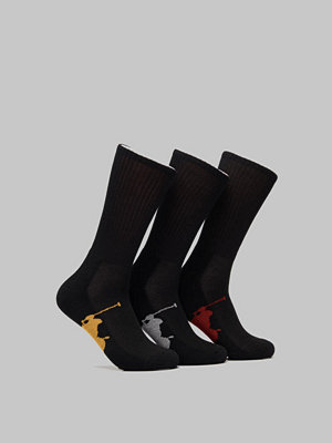 Polo Ralph Lauren 3 Pack BPP Sole Socks 001 Black