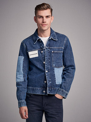 Jeansjackor - Calvin Klein Jeans Patched 1 Pocket Trucker 911 Delta Blue