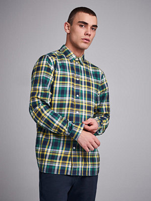 Skjortor - Tommy Jeans Essential Check Shirt Spectra Yellow