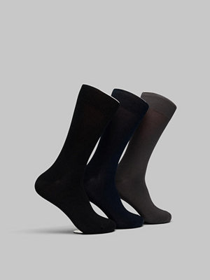 Topeco 3-pack Mercerized Cotton Socks Black/Grey/Navy