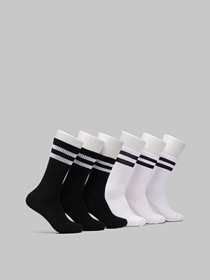 Studio Total Tub Socka 6-pack svart/vi