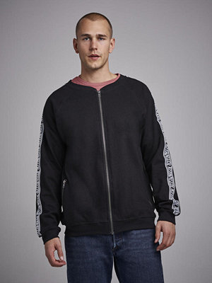 Street & luvtröjor - Studio Total Oliver Tape Zip Bomber Black