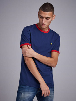 Lyle & Scott Ringer T-shirt Z474 Navy Dark Red