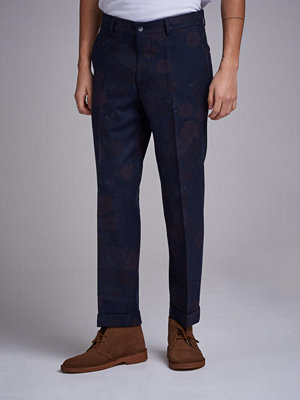 Byxor - Ljung by Marcus Larsson Cropped Flannel Trouser Navy Floral