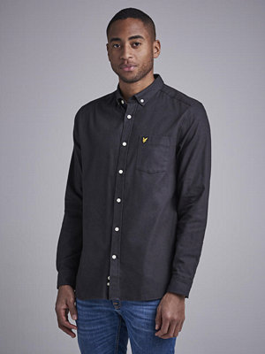 Skjortor - Lyle & Scott Snow Washed Shirt 572 True Black
