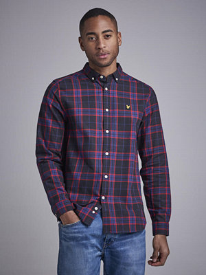 Skjortor - Lyle & Scott Check Flannel Shirt 572 True Black