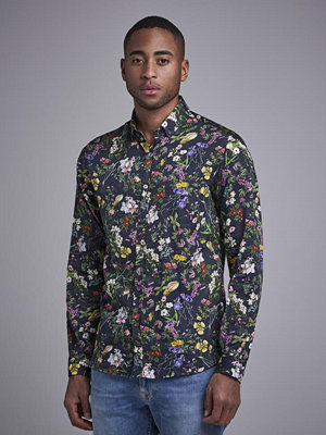 Skjortor - Ljung by Marcus Larsson Buttondown Satin Shirt Sthlm Garden
