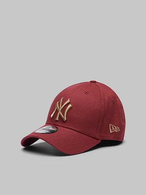 New Era 39Thirty MLB Team Logo NY Yankees Maroon/Yellow